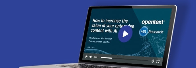 Webinar: How to increase the value of enterprise content with AI
