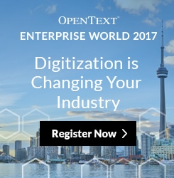 Enterprise World 2017 register banner