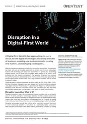 Thumbnail - Disruption in a Digital-First World