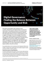 Thumbnail - Digital Governance: Finding the Balance between Opportunity and Risk
