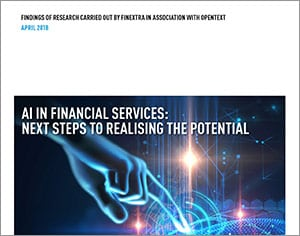 AI in Financial Services: Next Steps to Realising the Potential thumbnail