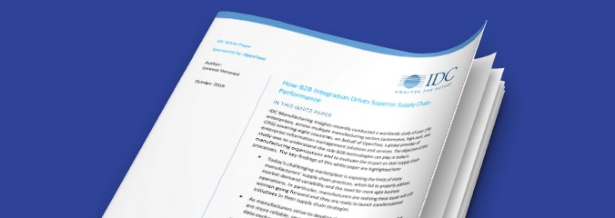 IDC white paper: how B2B Integration Drives Superior Supply Chain Performance cover image