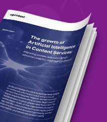 The Growth of Artificial Intelligence in Content Services white paper cover