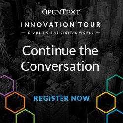 OpenText iTour2017 Conversation Continues