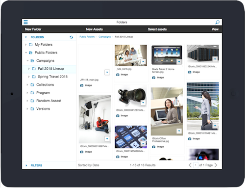 OpenText Media Management Tablet layout