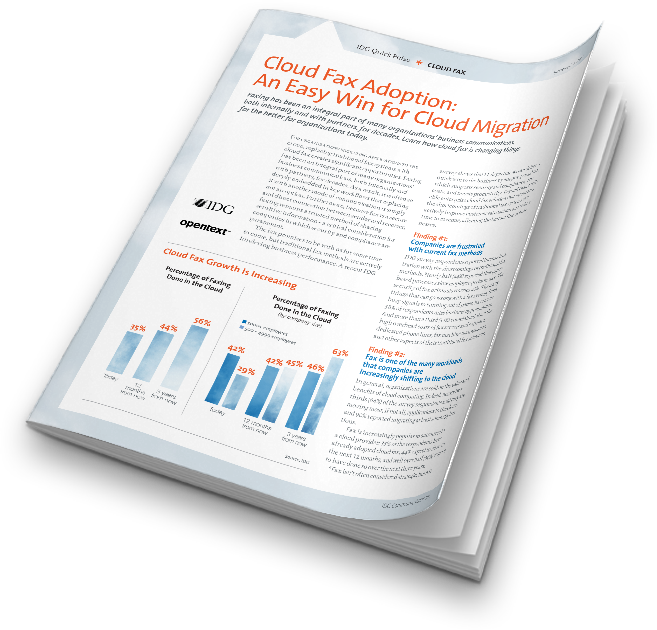 Download the report - Cloud Fax Adoption: An Easy Win for Cloud Migration