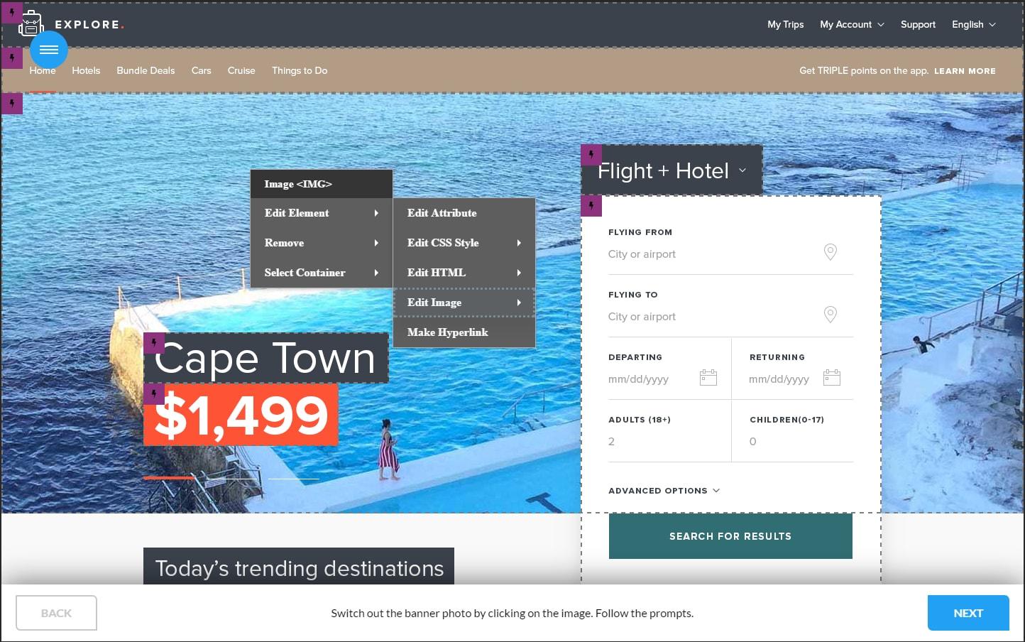 HTML2Template Click Through Demo