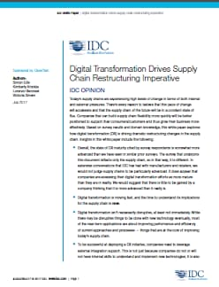 IDC white paper on supply chains and digital transformation
