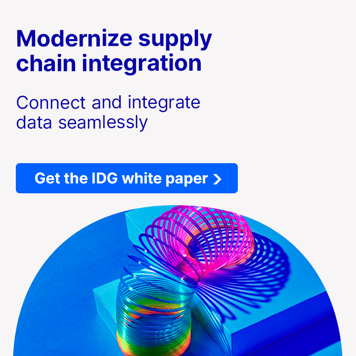 Modernize supply chain integration , Connect and integrate data seamlessly - Get the IDG white paper