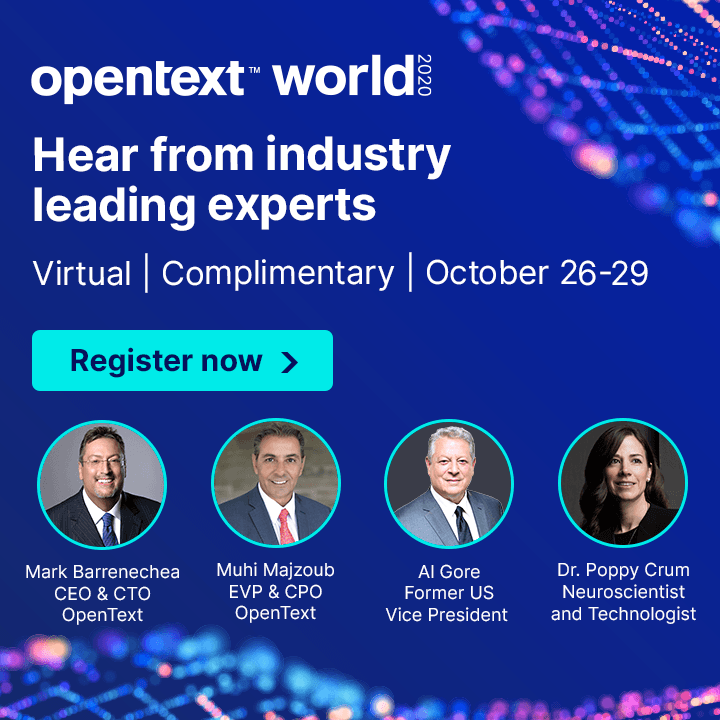 Hear from industry leading experts - Virtual | Complimentry | October 26-29 - register now