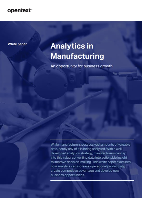Analytics in Manufacturing
