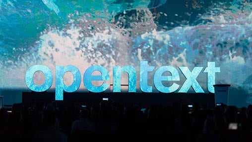 OpenText Enterprise World main stage