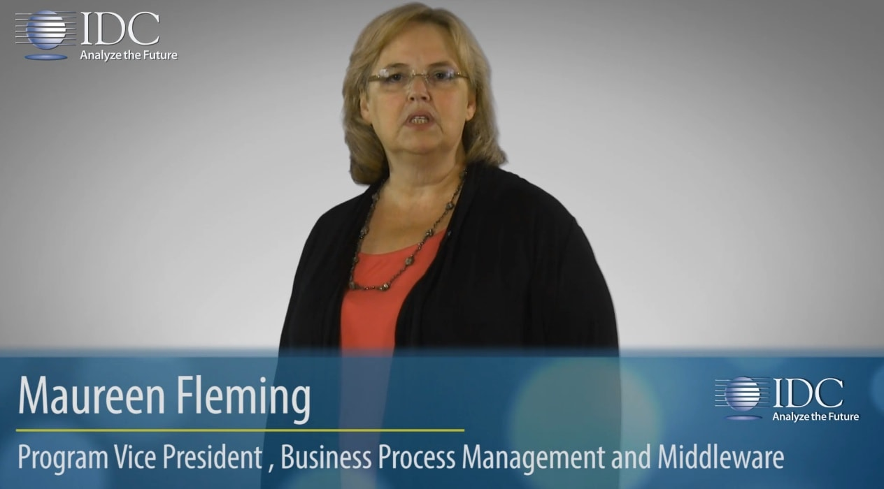 Maureen Fleming from IDC touting the Process Suite